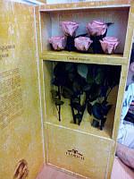 Набор из 5 роз Неувядающая долгосвежая живая роза FLORICH-  5 карат