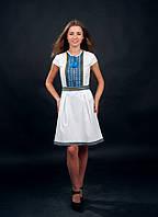 Нежное и удобное платье вышиванка с коротким рукавом от волынских мастеров