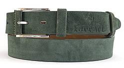 Оригинальный замшевый кожаный мужской ремень 4 см (100019)