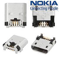 Коннектор зарядки для Nokia 620 Lumia, оригинал