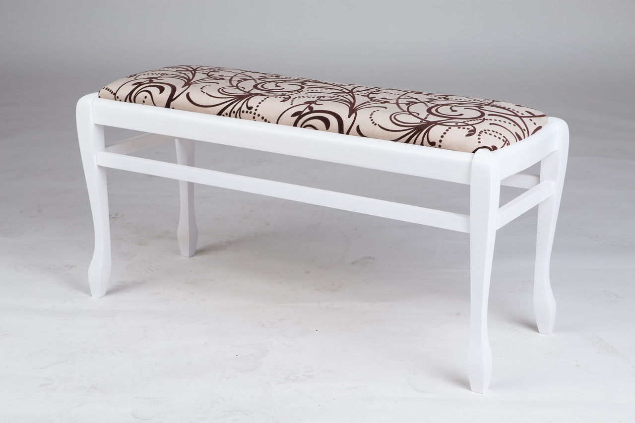 Банкетка деревянная в прихожую  Сиеста большая Микс мебель, цвет белый