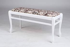Банкетка деревянная в прихожую  Сиеста большая Микс мебель, цвет белый, фото 2