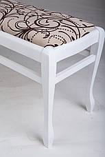 Банкетка деревянная в прихожую  Сиеста большая Микс мебель, цвет белый, фото 3