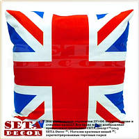 "Наволочка на подушку ""UK Style"" (Union Jack) 43х43 см, декоративная"