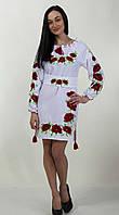 Платье вышиванка с маками