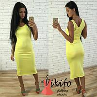 Женское стильное модное длинное платье (5 расцветки)