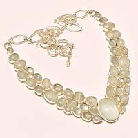 Колье, ожерелье из натуральных камней. АКВАМАРИН