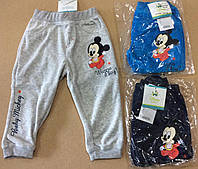 Велюровые спортивные штанишки для мальчиков Mickey 6-23м