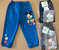 Утепленные спортивные штанишки для мальчиков Mickey 6-23м