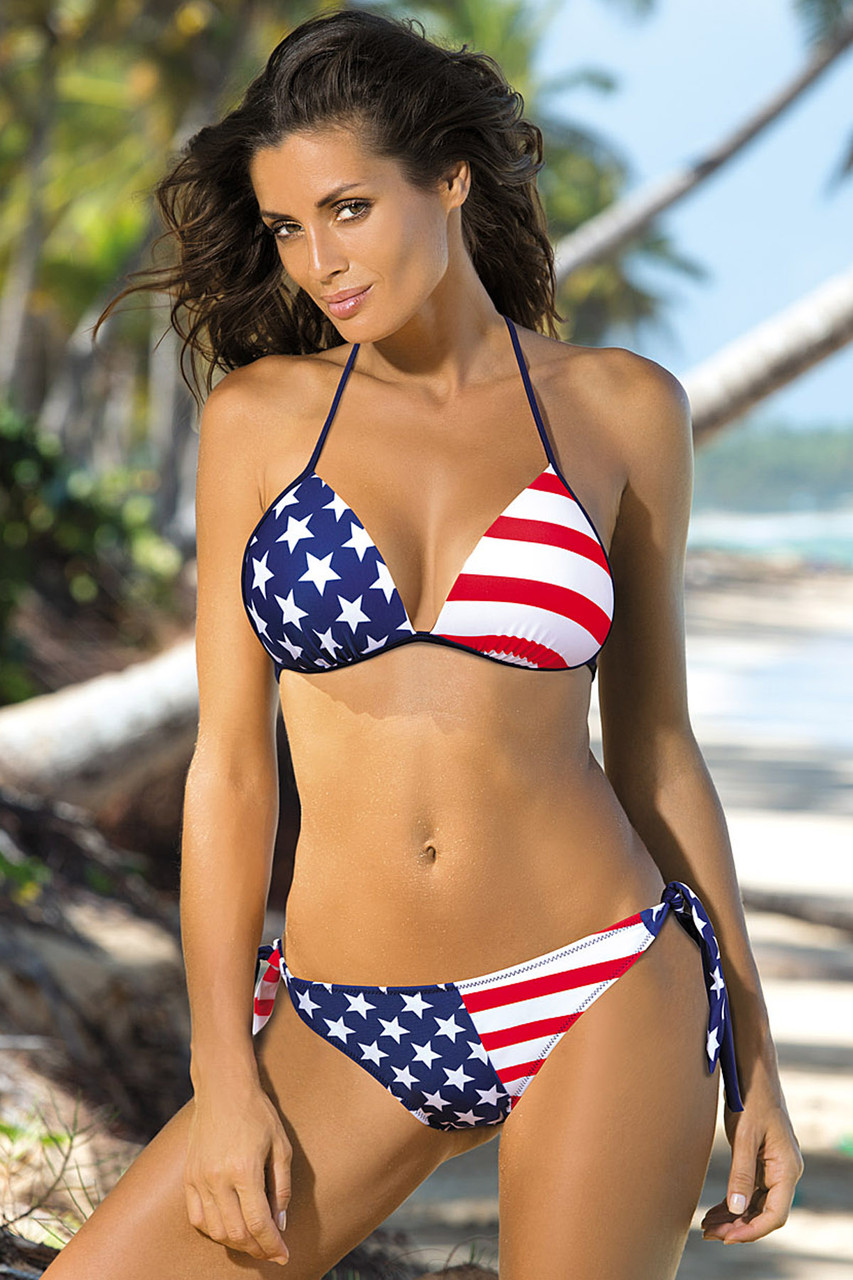 Купальник-бикини Американский флаг M 283 MILEY (размеры S-XL/M)