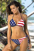 Купальник-бикини Американский флаг M 283 MILEY (размеры S-XL/M), фото 1