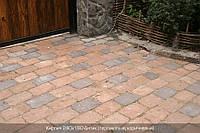 Тротуарная плитка Коричневая полный покрас (Квадрат Антик 160\160)