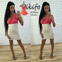 Женское  красивое облегающее платье с вырезом (4 цветов), фото 1