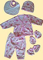 """Набор одежды для новорожденных,""""Зайка"""", розовый, 6 предметов"""