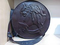 Сумка кожаная с барельфом лошади