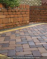 Тротуарная плитка Коричневая (Кирпич Антик200\100)