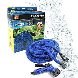 Шланг поливочный Magic Hose Мэджик Хоз 22,5 м синий(ШлангПол_MagicHose-22,5)