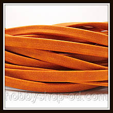 Шнур замшевый 10*3 мм, цвет оранжевый (20 см)