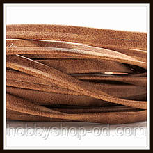 Шнур замшевый 10*3 мм, цвет капучино (20 см)