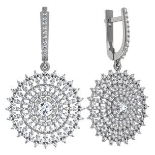 Сережки срібні Ореол Каменів 110915