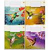 Тетрадь цветная 96 листов, клетка