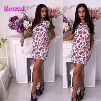 Женское стильное платье с леопардовым принтом (3 цвета)