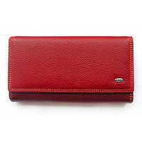 Вместительный женский кожаный кошелек с отделом для кредиток Dr. Bond (14001)