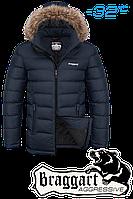 Куртка зимняя мужская на меху Braggart Aggressive - 4495L темно-синяя