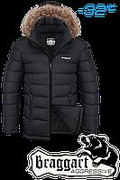 Куртка зимняя мужская на меху Braggart Aggressive -  4495B черная