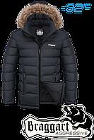 Куртка зимняя мужская на меху Braggart Aggressive - 4495K графит