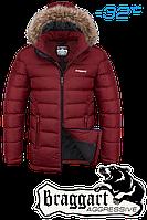 Куртка зимняя мужская на меху Braggart Aggressive - 4495A красная