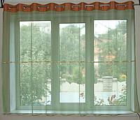 Тюль на люверсах Фатинка зеленая, фото 1