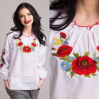 """Блуза для девочек """"Маки-колоски"""""""