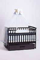 Детская кроватка трансформер Лодочка венге Детский Сон