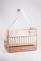 Детская кроватка трансформер Лодочка натуральный Детский Сон