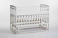 Детская кроватка трансформер Лодочка слоновая кость б/ящ. Детский Сон
