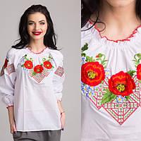 """Блуза для девочек """"Маки-ромб"""""""