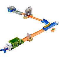Трек Хот Вилс Hot Wheels мусоропровод Track Builder Garbage Dumping Alley Trackset, фото 1