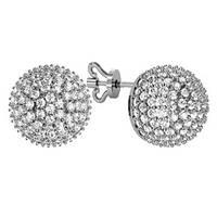 Серьги серебряные гвозди Шар Камней 310290
