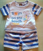 """Летний костюмчик для новорожденного мальчика """"Море"""""""
