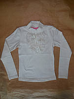 Блузка гольф для девочек школа BERMINI от116 до 134 см рост с длинным рукавом