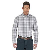 Рубашка Wrangler Premium Performance, S, Grey/Dark Plum, MACS20M