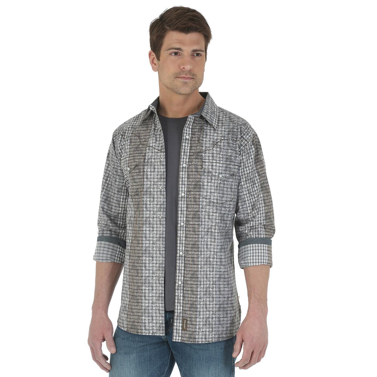 Рубашка Wrangler, S, Black/Grey, MVR235M