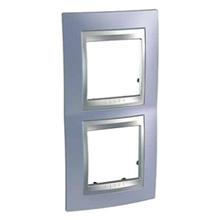 Рамка 2 пост. вертикальная Unica Top берилл/алюминий MGU66.004V.098
