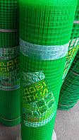 Заборы садовые, сетки пластиковые. Ячейка 12*14 мм, рулон 1*50 м (зеленая)