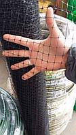 Птичка. Заборы садовые, сетки пластиковые. Ячейка 12*14 мм, рулон 0.5*100 м (черная)