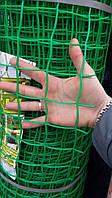 Заборы садовые, сетки пластиковые. Ячейка 85*95 мм, рулон 1*20 м (темно-зеленая)