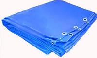 """Тент """"Bradas"""" blue 65g\m2 (Польша) 6*8 м. Полипропиленовый ( тарпаулиновый ) ламинированный с кольцами"""