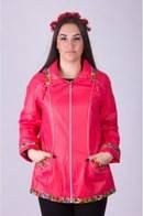 Женская модная куртка-ветровка с капюшоном большого размера 15 ЕПб