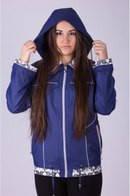 Женская модная куртка-ветровка с капюшоном большого размера 32 ЕПб